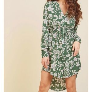Modcloth Flower Shirtdress